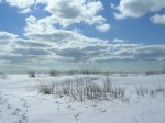 Port Burwell Provincial Park on the beach in winter