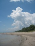 Long Point beach with big clouds June 2012